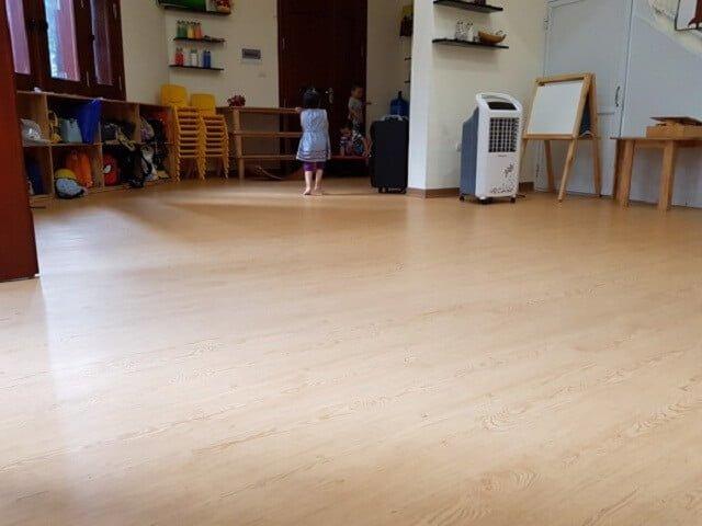 Các công trình sàn nhựa giả gỗ cho trường mầm non do SanF thi công