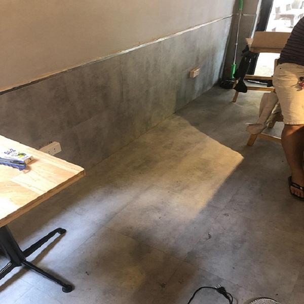 Công trình sàn nhựa giả bê tông 3206