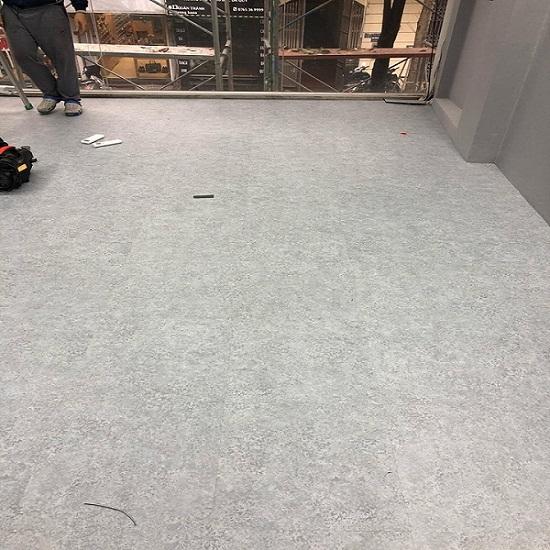 Công trình thi công sàn vinyl giả bê tông 3203