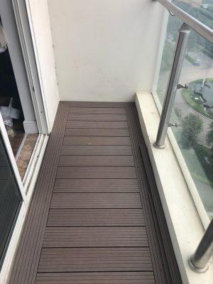 công trình thi công sàn gỗ nhựa dạng thanh