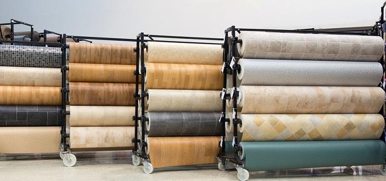 Sàn vinyl dạng cuộn đa dạng về kích thước và màu sắc