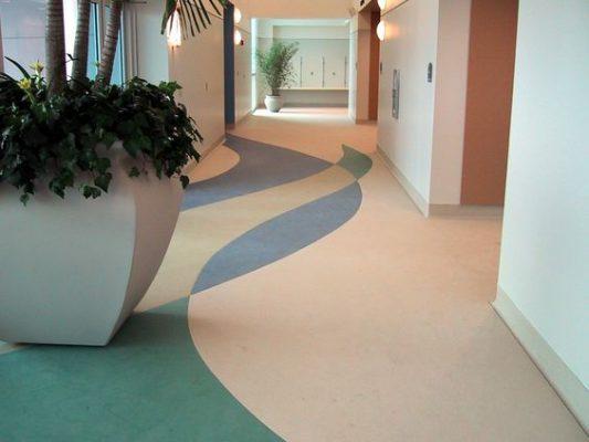 Sàn vinyl cuộn cho sảnh khách sạn