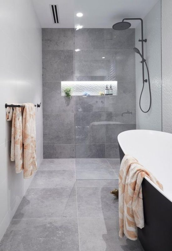 Nhà vệ sinh tông màu bê tông