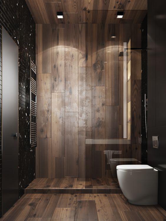 Sàn nhựa lót sàn nhà tắm tông màu nâu
