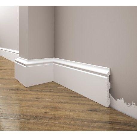 Phào nhựa chân tường trắng trơn không chân