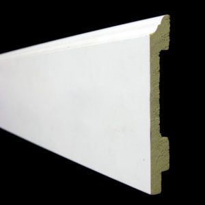 Phào nhựa chân tường màu trắng trơn