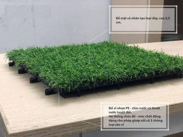 Sàn vỉ cỏ nhân tạo