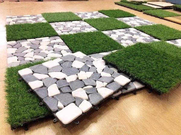 sàn vỉ đá sân vườn