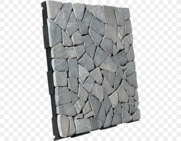 Sàn vỉ đá tự nhiên màu xám lát sân vườn