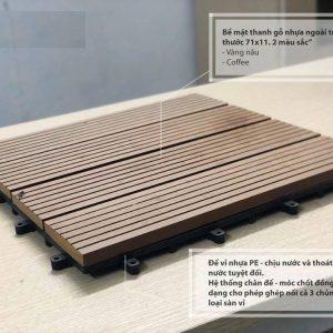 Cấu tạo sàn vỉ gỗ nhựa