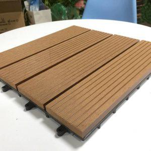 Vỉ gỗ nhựa đặc màu vàng nâu