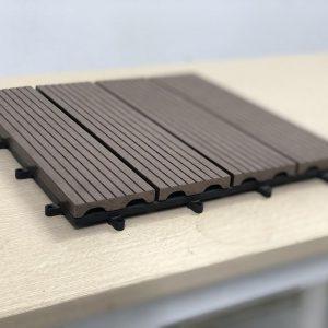 vỉ gỗ nhựa bán nguyệt màu cafe