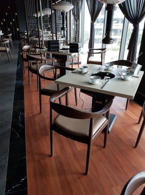 Công trình sàn nhựa cho nhà hàng lẩu nướng Manwah