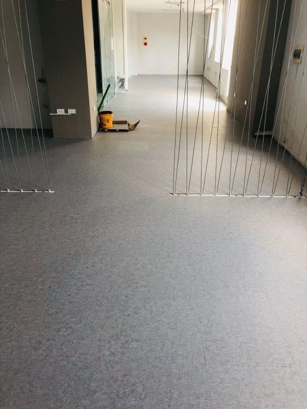 Công trình sàn vinyl giả bê tông 3202