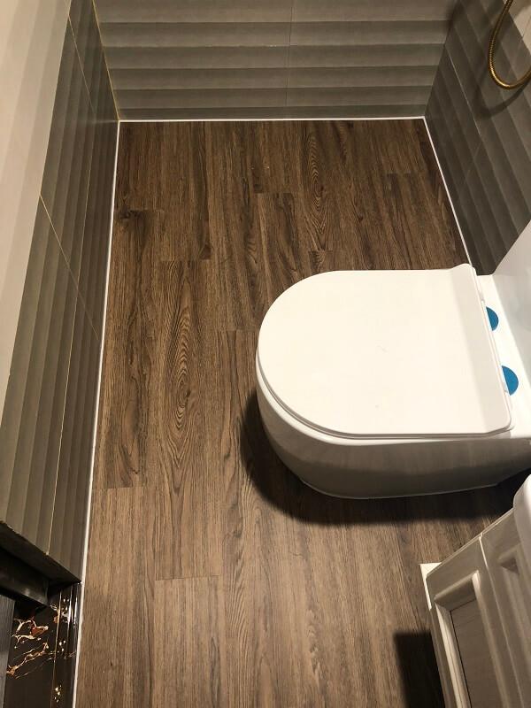 Công trình sàn nhựa lót nhà tắm