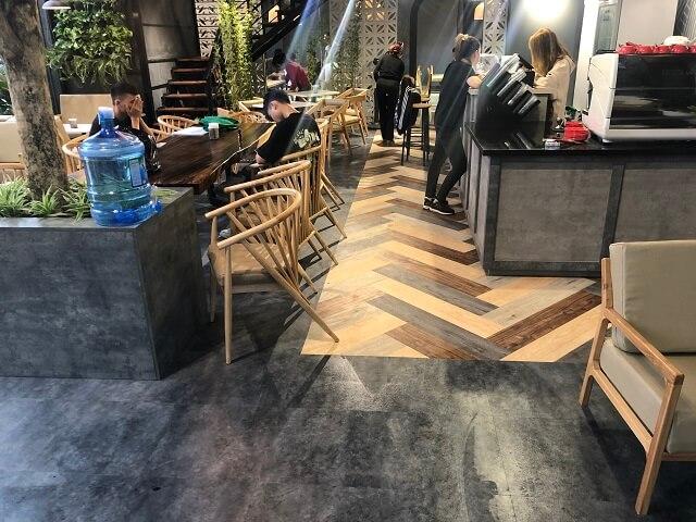 công trình sàn nhựa vân bê tông