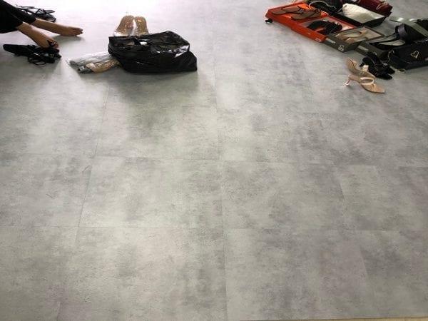 công trình sàn nhựa vân bê tông 3206